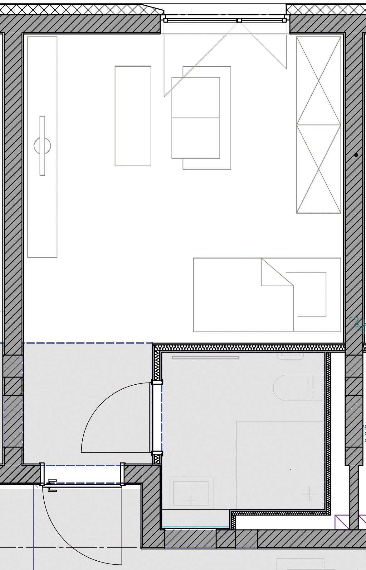 Beispielgrundriss eines WG-Apartments